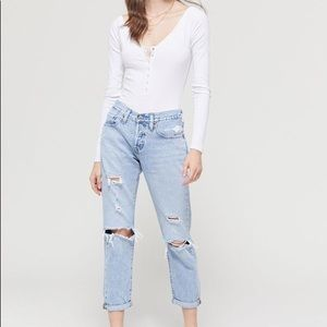 Levi's 501 Button-fly Destructed Jean